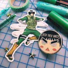 Rock Lee pin and sticker